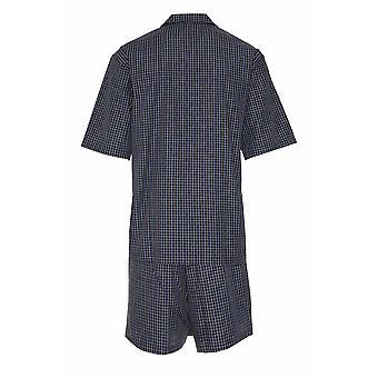 بطل رجالي بولي الأقمشة القطنية بيجاما قصيرة صالة مجموعة ملابس
