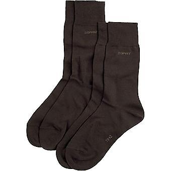 Esprit Basic 2 Pack Socks - Dark Brown