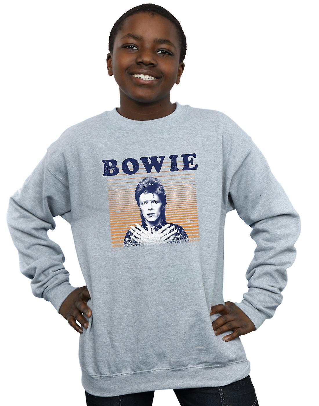 David Bowie Boys Orange Stripes Sweatshirt