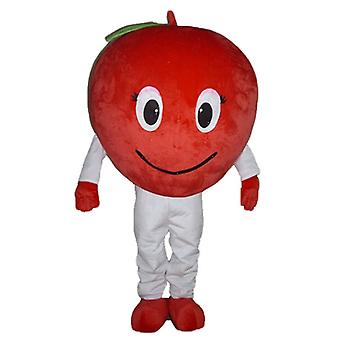 mascot SPOTSOUND Apple Red, giant and smiling