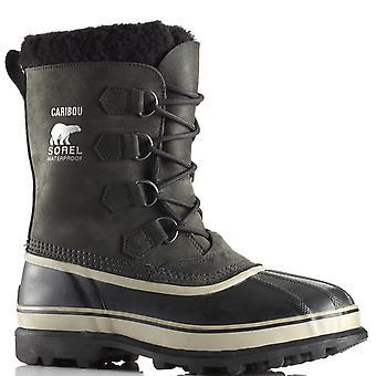 Mens Sorel Caribou waterdichte Nubuck regen sneeuw Winter Mid kalf laarzen