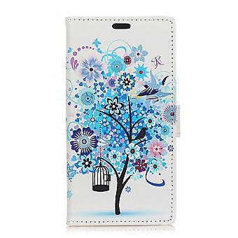 Sony Xperia L2 Plånboksfodral - Blue Flowers Tree