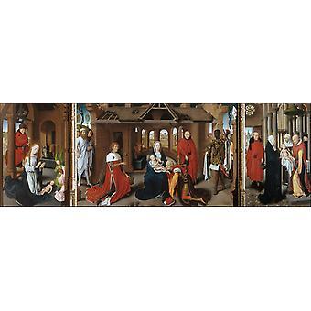 The Nativity,The Adoration of the Magi,Hans Memling,80x40cm