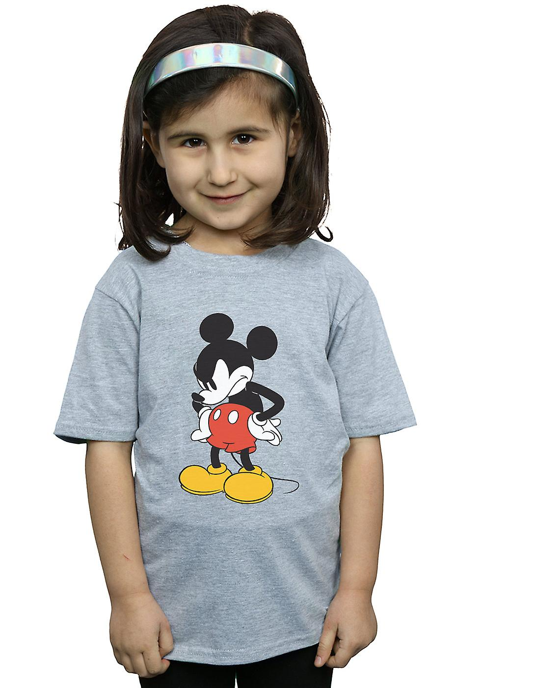 Disney Girls Mickey Mouse Angry Look Down T-Shirt