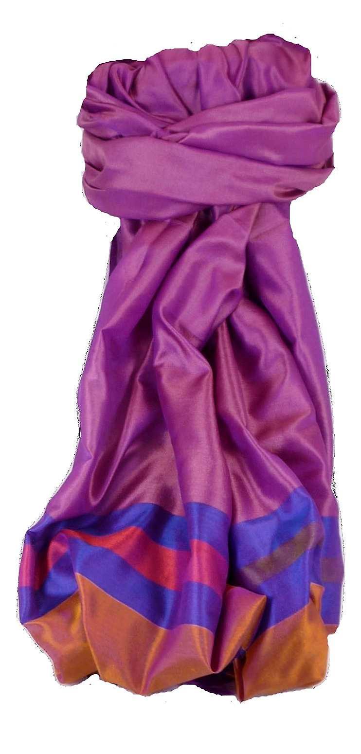 Varanasi Border Prime Silk Long Scarf Heritage Sandeep 303 by Pashmina & Silk