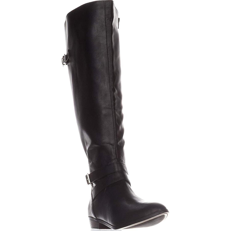 Material Girl Womens Carleigh Almond Toe Knee High Riding Boots