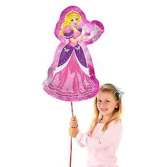 Folienballon Prinzessin Figur pink Heliumballon 50x86 cm Ballon