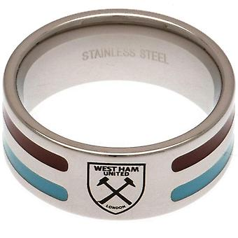 West Ham United FC Colour Stripe Ring