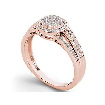 IGI Certified 10k Rose Gold 0.25 Ct Diamond Engagement Ring Set