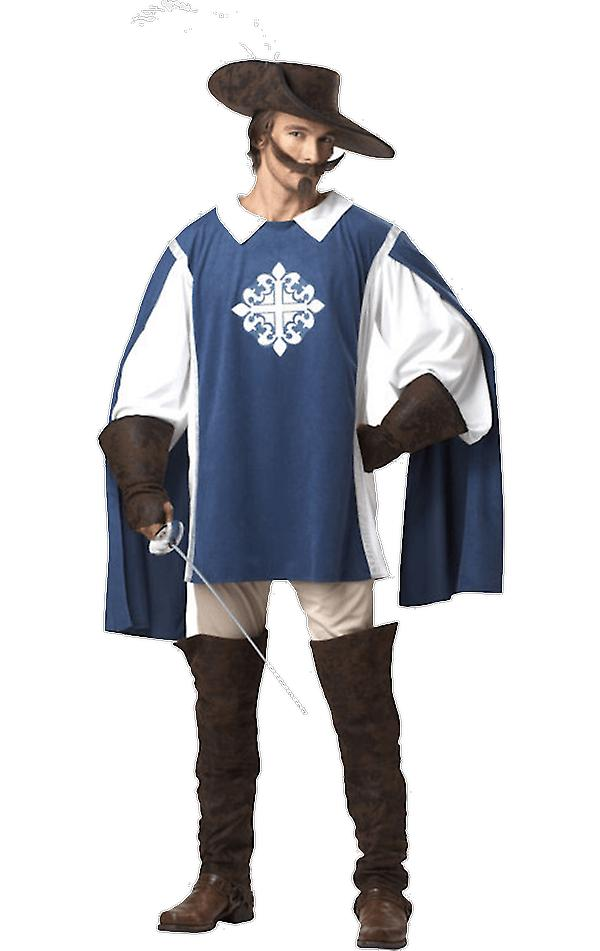 Mens Musketeer Medieval French History Fancy Dress Costume