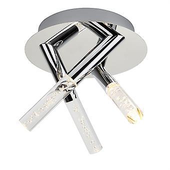 Pęcherzyki Chrome LED Lampa sufitowa trzy światła łazienka - Searchlight 2373-3CC
