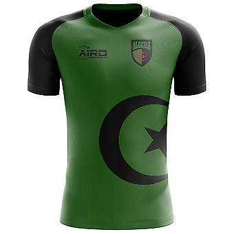 Camisa de futebol conceito bandeira da Argélia 2020 - Manga Comprida Adulta