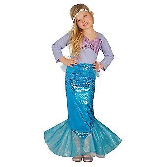 Meisjes Mythische Zeemeermin Fancy Dress Kostuum