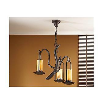 Schuller Traditional Oxide Black 3 LED Hanging Ceiling Light Pendant