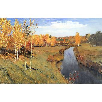 الخريف الذهبي،إسحاق ليفيتان، 60x40cm