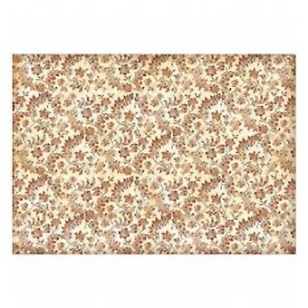 Stamperia Rice Paper A3 Wallpaper with Flowers & Leaves