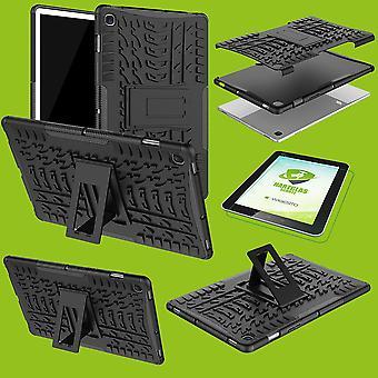 Voor Samsung Galaxy tab S5e 10,5 T720F Hybrid outdoor cover zwart geval + 0,3 H3 beschermende glas