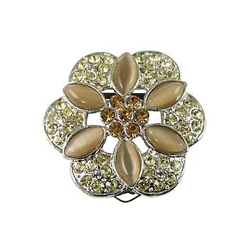 Eternal Collection Floral Passions Silver Jonquil & Topaz Scarf Clip