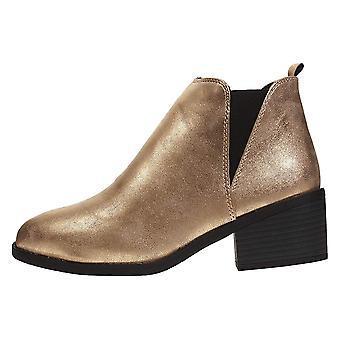 Naisten PU Chelsea nilkkurit kanssa Shimmer materiaali slip-on muoti kengät