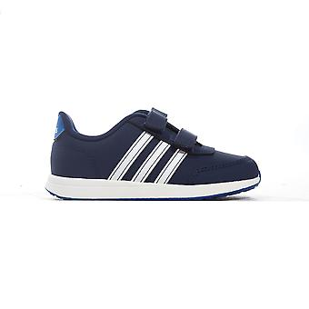 adidas VS Switch 2 Infant Kids Sports Trainer Shoe Blue