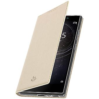 Window flip case, standing case by Vili for Sony Xperia L2 - Gold
