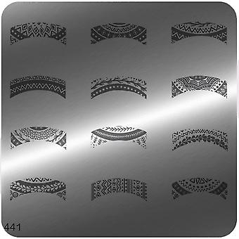 MoYou Square Stamping Nail Art Image Plate - 441