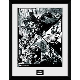 Batman komiska Collage inramade Collector Print 40x30cm