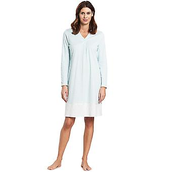 Féraud 3191100-16502 Mujeres's High Class Soft Turquoise Cotton Night Gown Nightwear Nightdress Nightdress Nightdress