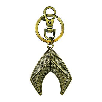 Metal Key Chain - DC Comics - Aquaman Logo Pewter New 45784