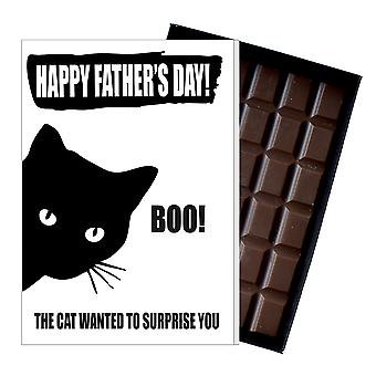 Funny Father's Day Gift From Cat Lover Chocolate Present Card Daddy Daddy 152