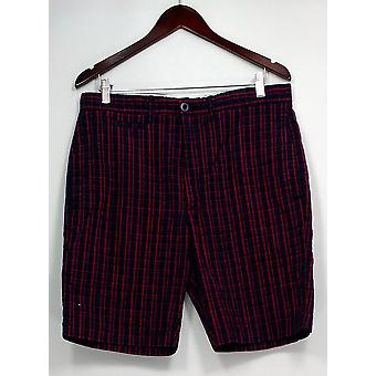 Grayers Casual Shorts Shorts Plaid Fly Front Blue