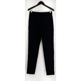 Susan Graver Pantalons Chelsea Stretch Comfort Waist Pull Bleu A272354 PTC