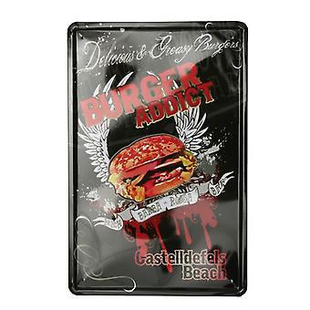 Wellindal Vintage Printed Metal Box Barba Rossa 20X30- Hcn356-87