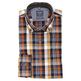 OLYMP Olymp Brown Shirt 4014 24
