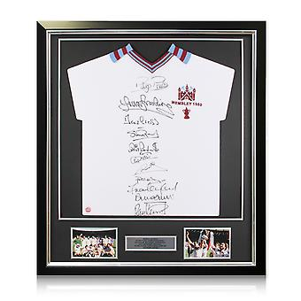 West Ham United Football Shirt Signed By The 1980 FA Cup Squad. Framed