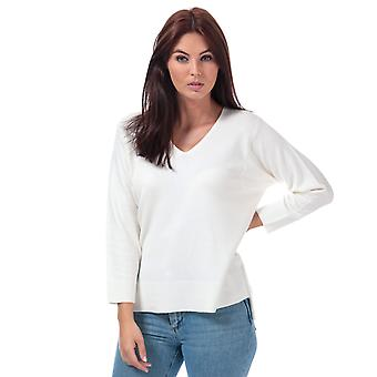 Womens French Connection Ebba Vhari V-Neck Jumper In Winter White