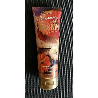 Bath & Body Works Sweet Cinnamon Pumpkin Triple Moisture Body Cream 8 oz / 226 g (2 Pack)