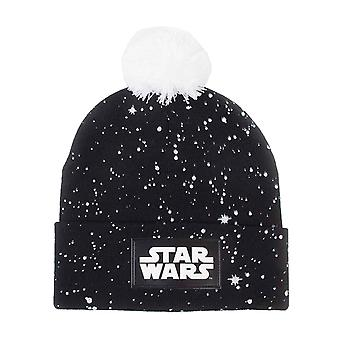 Star Wars Beanie Bobble Hat Classic Logo Galaxy new Official Black