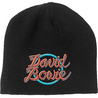 David Bowie mössa hatt 1978 World Tour Logo nya officiella svart