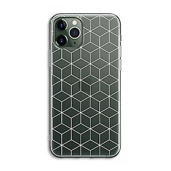 iPhone 11 Pro Max Transparent Case (Soft) - Cubes black and white