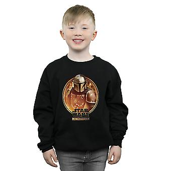 Star Wars Boys The Mandalorian Framed Sweatshirt