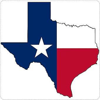 Sticker Sticker Sticker Car Moto Map Texas Flag USA USA