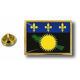 Pine PineS Badge Pin-apos;s Metal With Butterfly Pinch Flag Guadeloupe Gwada