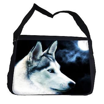 Maan wolf wolf tas met schouderriem-messengertas