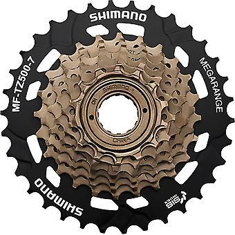 Shimano MF-TZ500 (tourney) / / 7-speed freewheel screw ring (14-34 tooth)