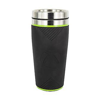 Microsoft Xbox thermo-gobelet logo noir/gr³n/argent, acier inox, douille÷v. 450 ml.