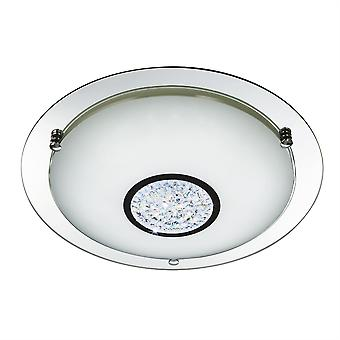 Light Bathroom Integrato LED Bagno Flush Soffitto Chrome, Specchio IP44 3883-41