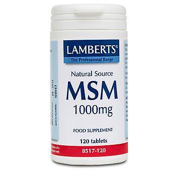 Lamberts MSM 1000mg Tabs 120 (8517-120)