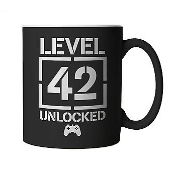 Level 42 Unlocked Video Game Birthday, Mug | Age Related Year Birthday Novelty Gift Present | 60s 70s 80s 90s Dad Grandad Son Mum Daughter | Gaming Cup Gift