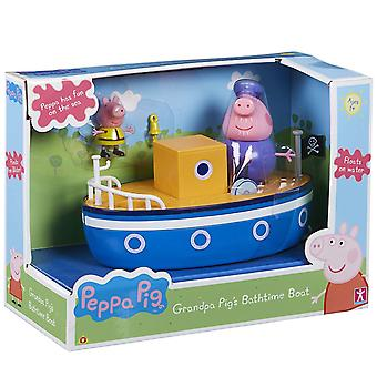 Peppa gris bedstefar grise Badtid båd